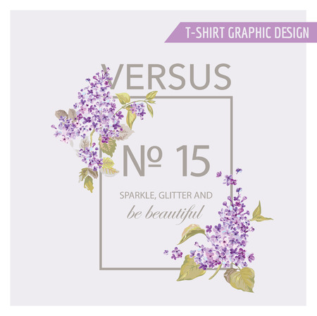 fashion illustration: Floral Graphic Design - for t-shirt, fashion, prints - in vector