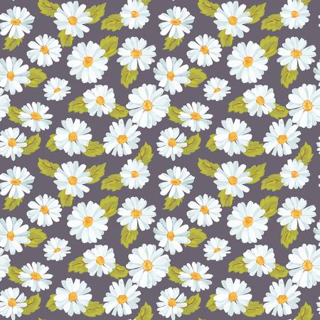 ビンテージ花デイジー背景 - シームレスなパターンのデザイン、印刷、スクラップ ブック - ベクトル 写真素材 - 40385297
