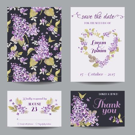 招待状やグリーティング カード セット - ベビー シャワー - ベクトルの結婚式のため 写真素材 - 40382524