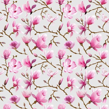 ferraille: Magnolia Fleurs fond - Seamless Vintage - dans le vecteur