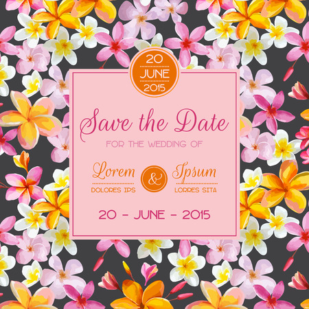 Invitation or Greeting Card Set - for Wedding, Baby Shower - in vector 向量圖像