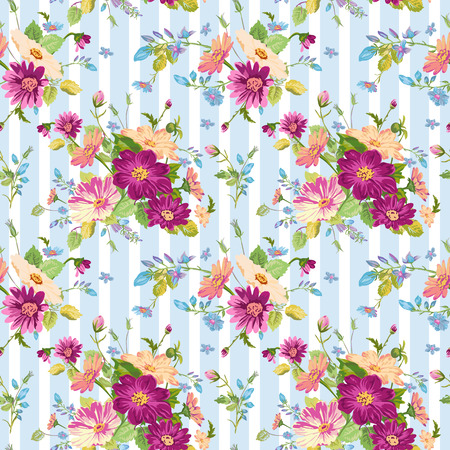 Vintage Floral Background - seamless pattern for design, print, scrapbook - in vector Illustration