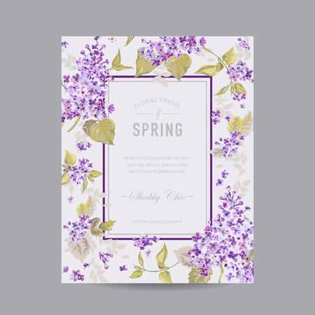 vintage floral frame: Vintage Floral Frame - for Invitation, Wedding, Baby Shower Card - in vector