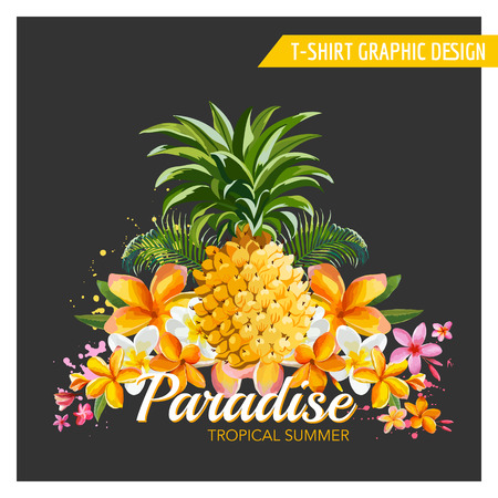 pattern vintage: Geometric Pineapple Background - Seamless Pattern in vector
