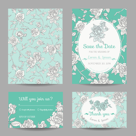 girl in shower: Invitation or Greeting Card Set - for Wedding, Baby Shower