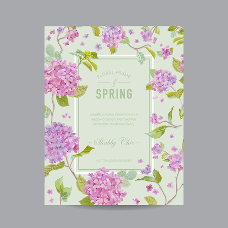 scrapbook frame: Vintage Floral Frame - for Invitation, Wedding, Baby Shower Card