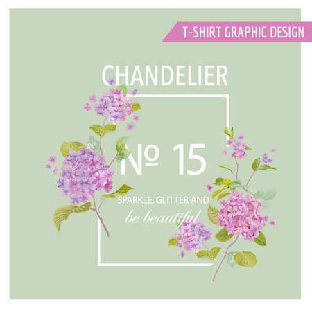 fashion design: Floral Graphic Design - for t-shirt, fashion, prints Illustration