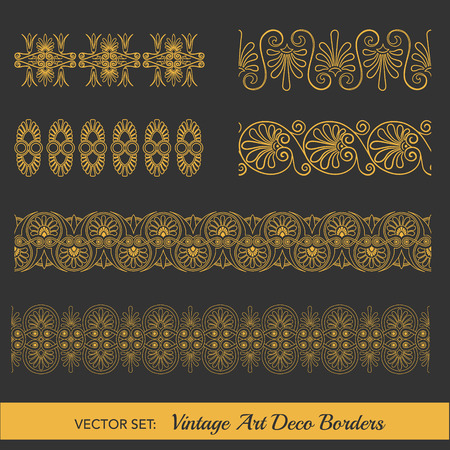 a symbol: Set of Vintage Borders - in Art Deco Style