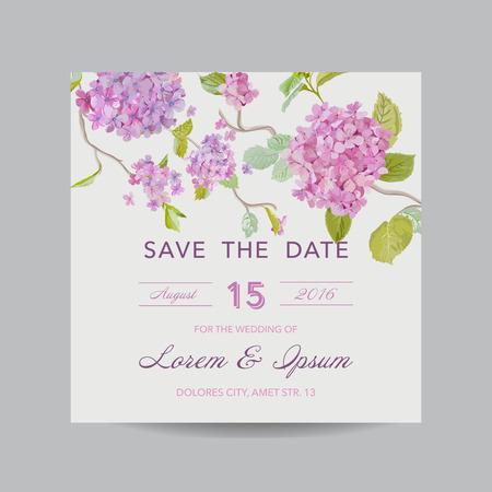 초대 또는 인사말 카드 세트 - 결혼식을위한, 베이비 샤워 - 일러스트