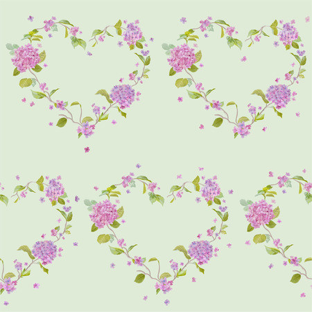 happy birthday baby: Vintage Floral Lilac Background - seamless pattern for design, print, scrapbook