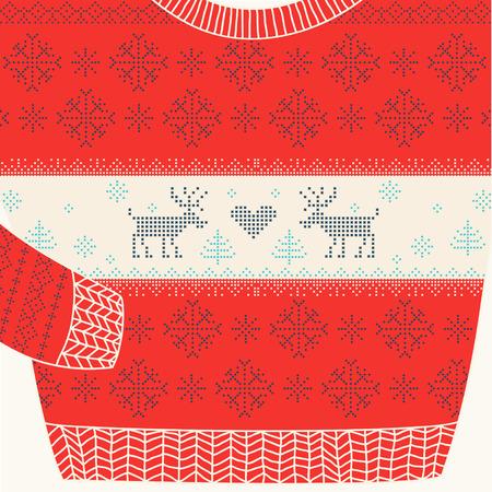 sueter: Ornamental de suéter - feo del suéter del partido - en el vector