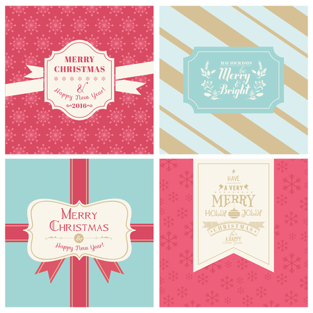 christmas vintage: Vintage Christmas Tags or Cards -  in vector