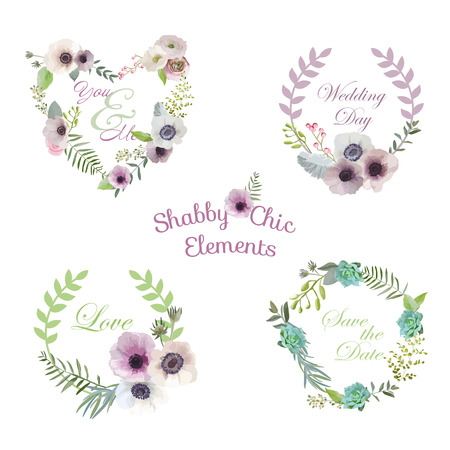 the spouse: Flower Banners and Tags - for your design and scrapbook - in vector