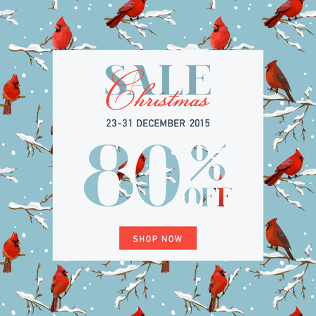 sell: Christmas Sale Banner with Gifts - in vector