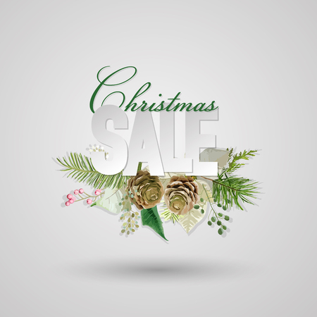christmas sale: Christmas Sale Banner - in vector