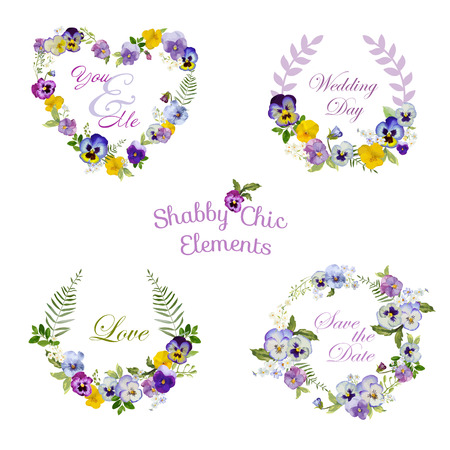 scrap: Flower Banners and Tags - for your design and scrapbook - in vector