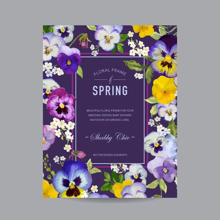 marco cumpleaños: Floral colorido de la vendimia del marco - para la invitación, boda, tarjeta de Baby Shower - en el vector