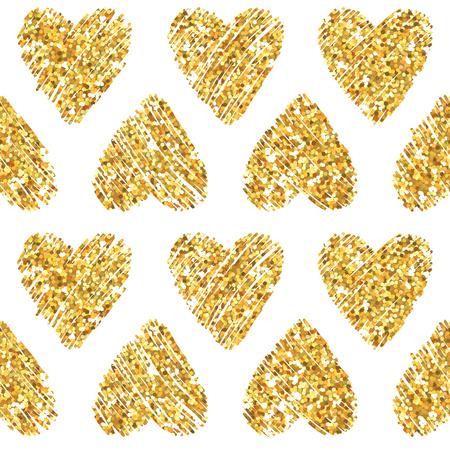 triangle pattern: Valentines Day Heart Glitter Pattern Illustration
