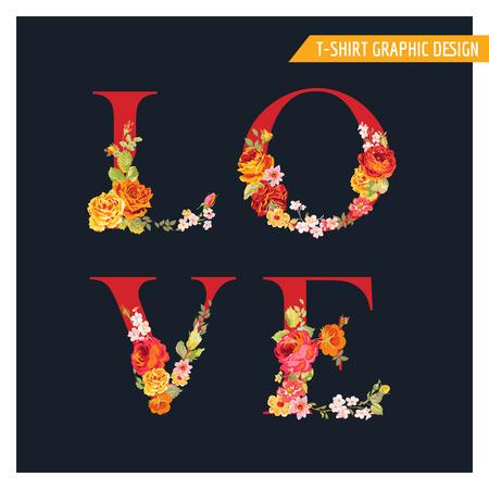 Fondo del amor del flower - estilo de la acuarela - en el vector