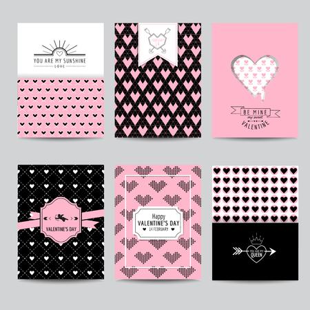 wedding love: Set of Love Cards - Wedding, Valentines Day, Invitation - in vector
