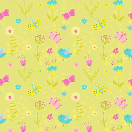 scrapbook: Baby Girl Seamless Background - for design and scrapbook - in vector