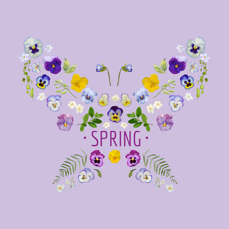 Spring - Floral Design graphique - pour t-shirt, mode, gravures - dans le vecteur