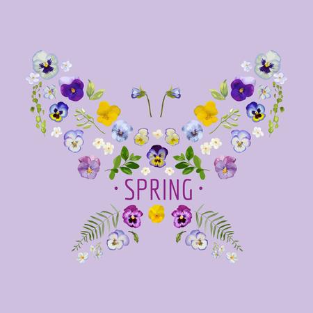 Spring - Floral Graphic Design - per t-shirt, moda, stampe - in formato vettoriale
