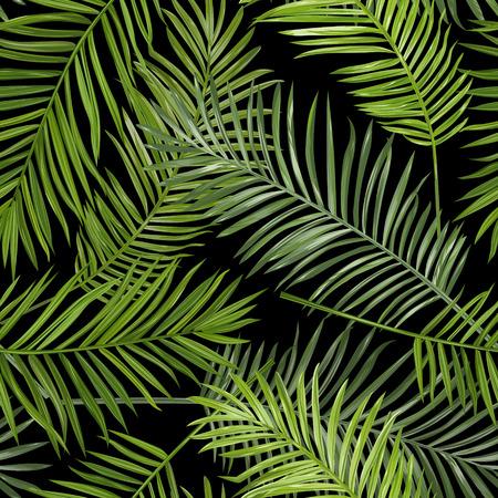 Naadloze tropische palm verlaat achtergrond - voor het ontwerp, scrapbook - in vector