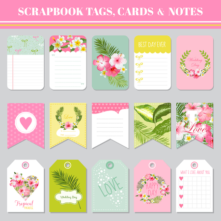 Scrapbook Tags Cards And Notes For Birthday Baby Shower