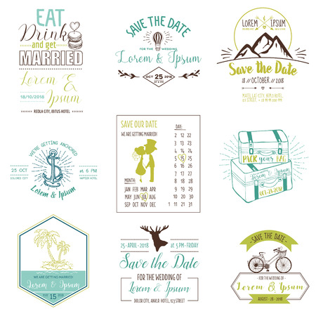 caligraphic: Vector. Wedding Vintage Card. Invitation Collection. Save the Date. RSVP. Wedding Invitation. Bridal Shower.