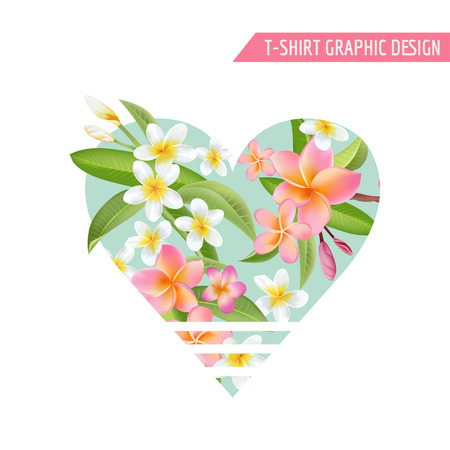 graphic background: Tropical Flowers and Leaves. Vector Background. Exotic Graphic Background. Tropical Banner.