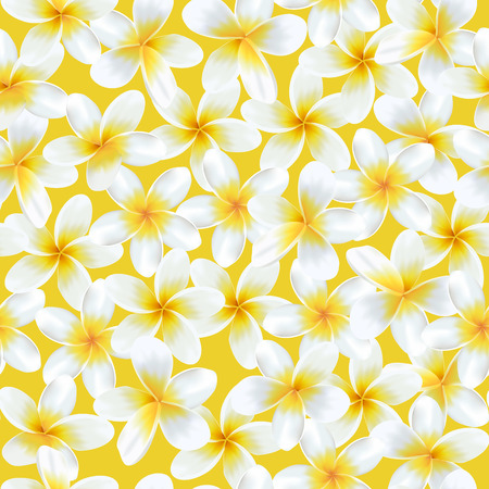 Tropical Flowers Background. Vintage Seamless Pattern. Vector Background.