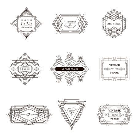 art deco: Art Deco Vintage Frames and Design Elements - in vector Illustration