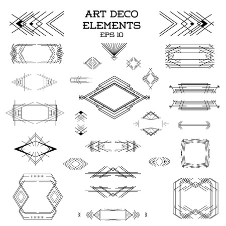 Art Deco Vintage Frames and Design Elements - in vector Illusztráció