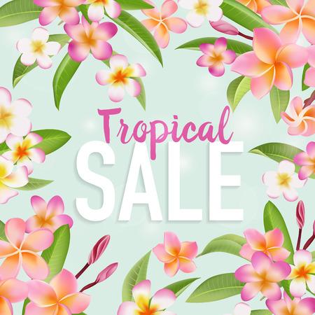 sale tag: Summer Sale Banner. Sale background. Big sale. Floral Sale Tag. Sale poster. Vector Illustration. Illustration