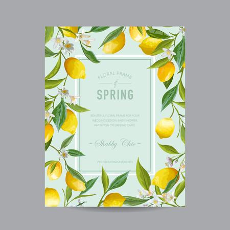 招待状、結婚式、ベビー シャワー カード - ベクトルのため - 熱帯花のカラフルなフレーム