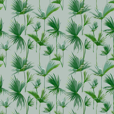seamless patterns: Seamless Tropical Palm Leaves Background. Exotic Summer Texture - for Design, Scrapbook - in Vector Illustration