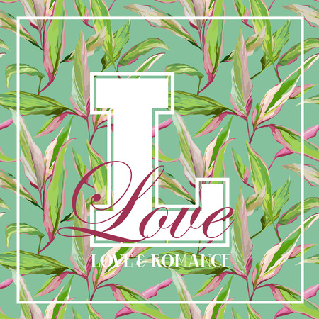 유행: T 셔츠, 패션, 인쇄를위한 - - 빈티지 열대 잎 꽃 그래픽 디자인 벡터에