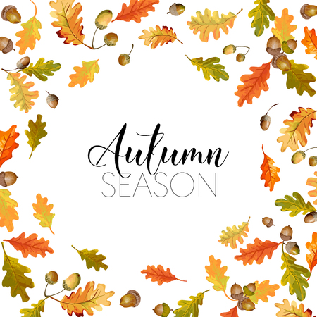 autumn leaves background: Colorful Autumn Leaves Background. T-shirt Fashion Graphic.