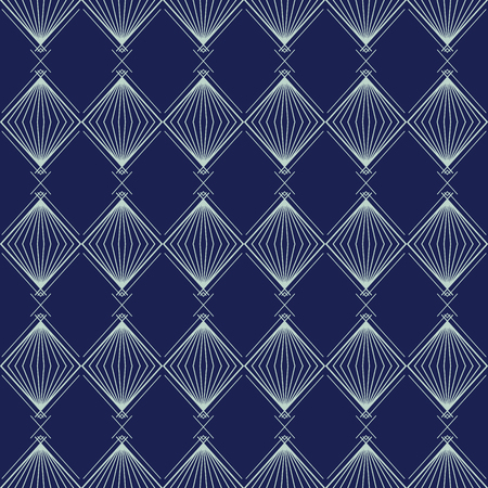 Art Deco Seamless Pattern, Geometrical Background for design, cover, textile, wallpaper, decoration in vector Illustration