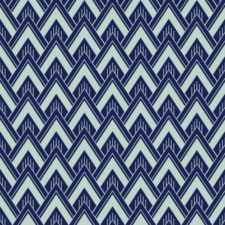 Art Deco Seamless Pattern, Geometrical Background for design, cover, textile, wallpaper, decoration in vector Ilustração