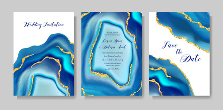 Wedding fashion geode or marble template, artistic covers design, colorful texture, realistic backgrounds. Trendy pattern, geometric brochure, save the date cards, graphic poster. Vector illustration. Standard-Bild - 112061222