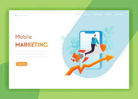 Mobile Marketing Landing Page Template.
