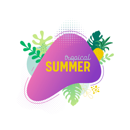 Summer sale banner template.  イラスト・ベクター素材