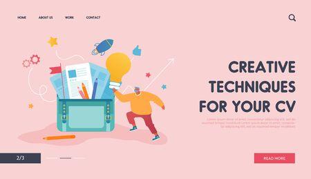 Creative Businessman Having Good Idea Website Landing Page.