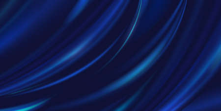 Vector abstract luxury blue background cloth. Silk texture, liquid wave, wavy folds elegant wallpaper