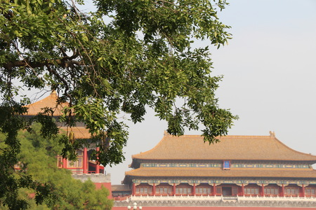 Forbidden city.An area of Beijing, China, that contains the former imperial palaces, to which entry was forbidden to all except the members of the imperial family and their servants. Stock fotó
