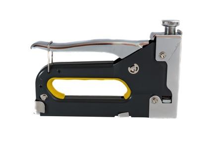 Construction stapler isolated on white Stock Photo