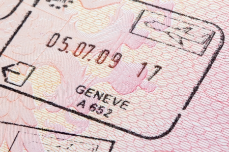 foreign national: Switzerland immigration stamp in passport