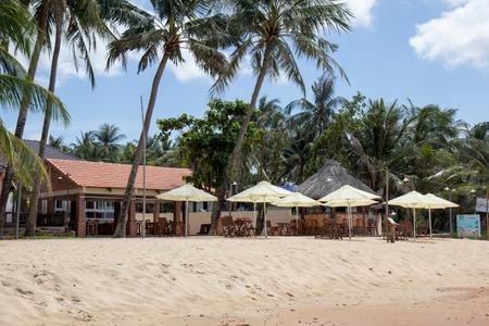 Restaurant near sea on the palm beach Stock fotó